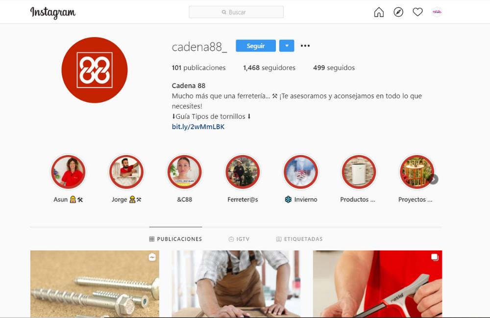 Instagram de Cadena 88