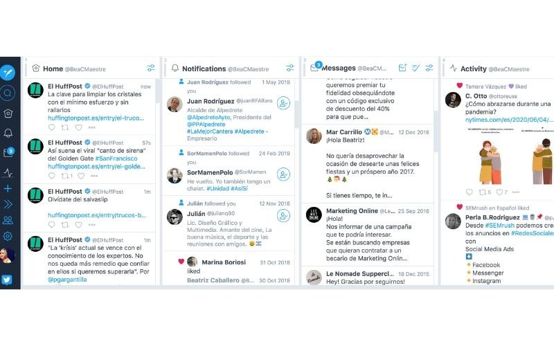 Panel de TweetDeck